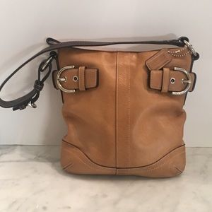 Coach camel hobo handbag so soft leather exc cond.